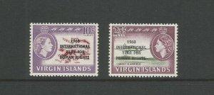 British Virgin Islands,1968 Human Rights Overprinted UMM Set SG 224/5