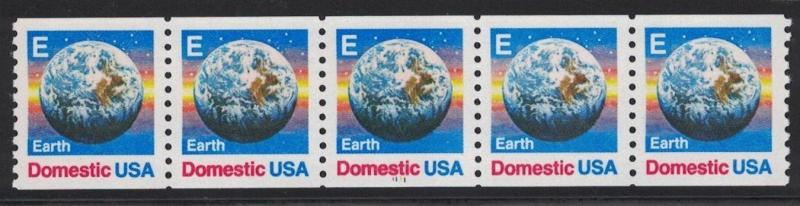Scott 2279 - Earth Day. Coil Strip Of 5.  #1   MNH. OG.   #02 2279