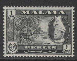 MALAYA PERLIS SG29 1957 1c BLACK MNH