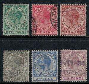 Gibraltar #76-9,81-2  CV $11.05