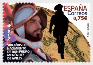Spain 2020, 500th Ann of the Birth of Pedro Menendez de Aviles MNH**