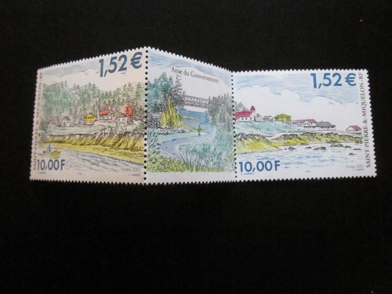 St Pierre and Miquelon #711a-b Mint Never Hinged- (T5) I Combine Shipping 2