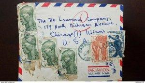 O) 1953 CAMEROUN - CAMEROON, CARRYING BANANAS A27- BROWMAN A28-FARMER A30, TO US