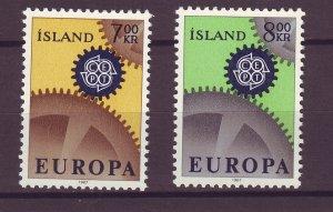 J25462 JLstamps 1967 iceland set mnh #389-90 europa