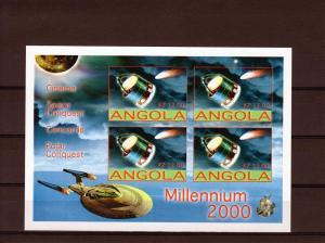 M.Monroe/Giotto/Pole/Angola 4 Shlt.imperf.Angola 2001 MNH VF