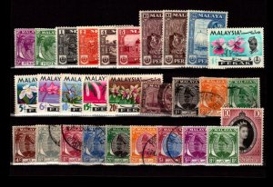Malaya States 29 Mint and Used, some faults - C2898