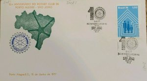 A) 1976, BRAZIL, 10 ANNIVERSARY OF THE ROTARY CLUB OF PORTO ALEGRE, FAMILY INSUR