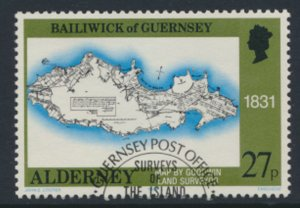 Alderney  SG A39  SC# 39   Bastides Maps Used First Day Cancel - as per scan
