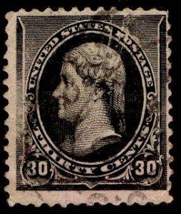 US Stamp #228 30c Jefferson USED SCV $30
