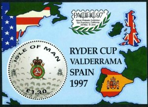 Isle of Man 756,MNH.Mi Bl.29. PACIFIC-1997. Ryder Cup, Valderrama, Spain.