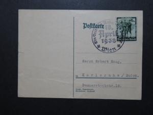 Germany SC# 484 on Card w/ Austrian Union Event CDS, see notes - Z10239