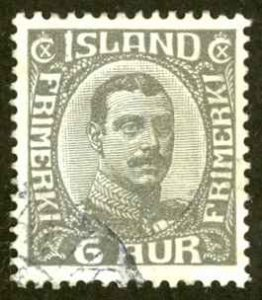 Iceland Sc# 113 Used 1920-1922 6a Christian X