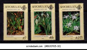 SEYCHELLES - 1983 PAINTING OF MARIANNE NORTH - 3V - MNH