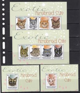 Grenada Grenadines 2014 domestic animals cats 2klb+2s/s MNH