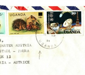 UGANDA Cover INFLATION SURCHARGE Franking Masaka Missionary 1984{samwells}EB171