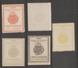 El Salvador Revenue Fiscal Stamp 11-28-20-5c as seen