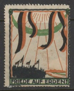 German Advertising Poster Stamp Peace on Earth NG    -UPA1
