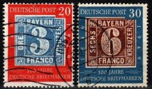 Germany #667-8  F-VF Used  CV $86.50  (V5651)