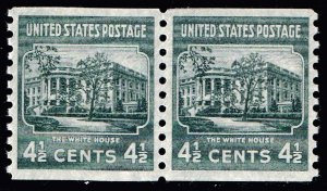US STAMP #844 – 1939 4 1/2c White House, dark gray MNH/OG SUPERB