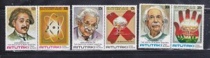 Aitutaki 187a, 189a, 191a Set MNH Albert Einstein