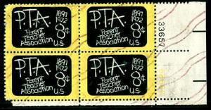 #1463 PTA Plate Block   - Used