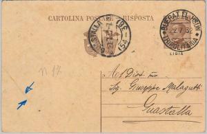 53740 - ITALIA COLONIE: LIBIA - INTERO POSTALE  da BUERAT EL HSUN a GUASTALLA