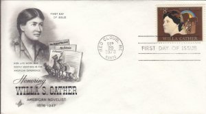 1973, Honoring Willa S. Cather, Artcraft, FDC (D13578)