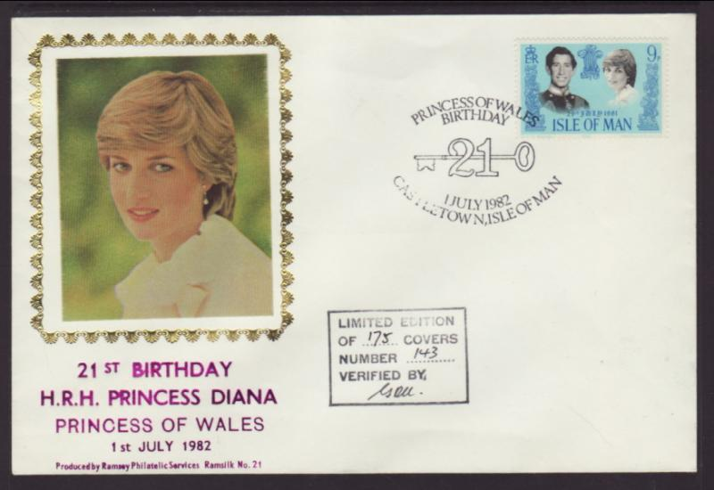 Isle of Man 198 Princess Diana Ramsey U/A FDC