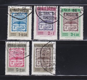 Argentina CB8-CB12 Set U Stamps On Stamps (D)