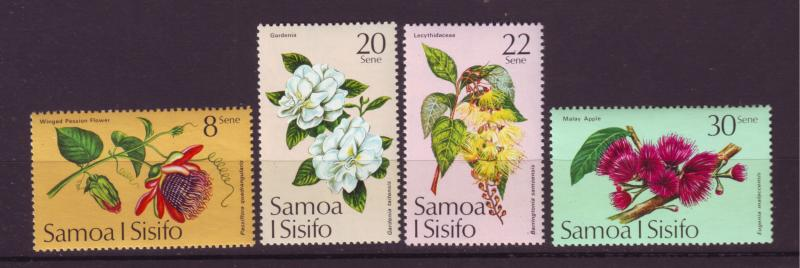 J29632 Jlstamps 1975 samoa set mnh #411-4 flowers