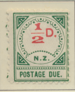 New Zealand Stamp Scott #J1, Mint Hinged, Large D, Small NZ - Free U.S. S...