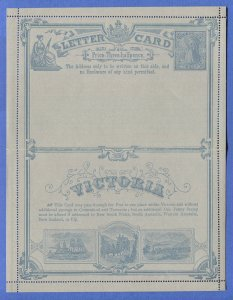 AUSTRALIA VICTORIA 1889 Mint 1-1/2d Illus. Train Lettercard, XF, H&G A1