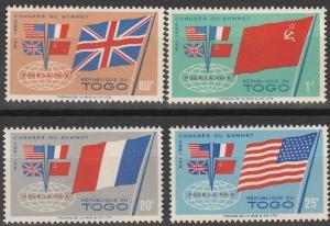 Togo #382-5 MNH F-VF (V4498)