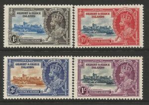 Gilbert & Ellice Islands 1935 Silver Jubilee set very lightly mounted mint