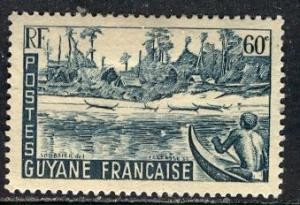 French Guiana 1947: Sc. # 195; */MH Single Stamp