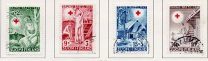 Finland Sc B94-97 1949 Red Cross charity stamp set used