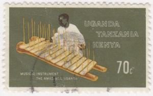 Kenya Uganda Tanzania, Sc 210, MH, 1970, Musical Instrument