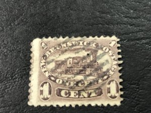 NEW BRUNSWICK # 6a-USED----BROWN VIOLET----1860-63
