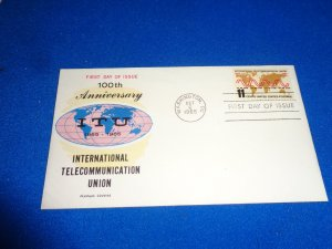 FLEUGEL MULTI COLORED CACHET FDC:  US SCOTT#  1274
