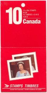Canada - 1990 40c QE Complete Booklet mint USC #BK126 Cat. $12.00