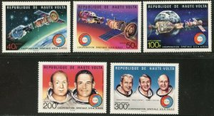 BURKINA FASO(UPPER VOLTA) Sc#370-1,C216-9 1975 Apollo-Soyuz Set & S/S Cpl OG MNH