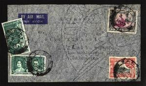 KENYA UGANDA TANGANYIKA 1937 airmail cover Tanga to Germany...............81671