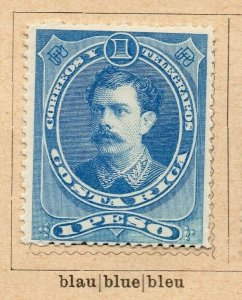 Costa Rica 1899 Early Issue Fine Mint Hinged 1P. NW-09193