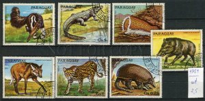 266232 Paraguay 1984 year used stamps set ANIMALS Fox anteater