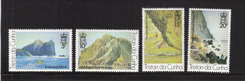 Tristan da Cunha MNH 268-71 Sea Landscapes