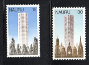 Nauru Sc 150-1 1977 Nauru House stamp set mint NH