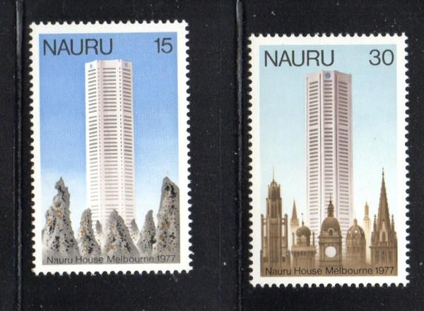 Nauru Sc 150-1 1977 Nauru House stamp set mint NH