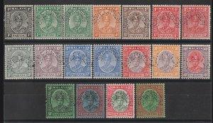 MALAYA - Pahang : 1935 Sultan set 1c-$5, perf SPECIMEN. MNH **. Very rare.
