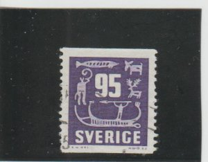 Sweden  Scott#  655  Used  (1964 Rock Carvings)