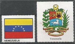 VENEZUELA. mint, Flag and Coat of Arms (no gum)